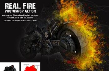 Real Fire Photoshop Action 5265414 7