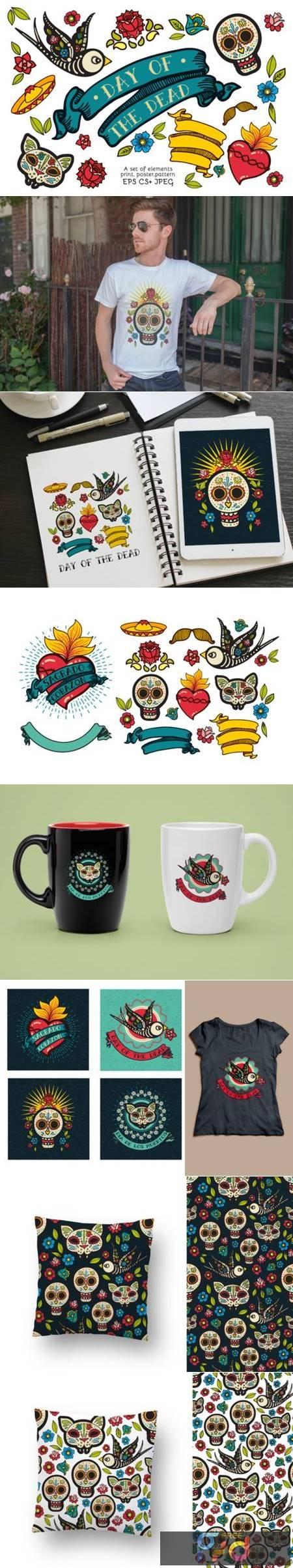 Dia De Los Muertos Clipart Collection 5773855 1