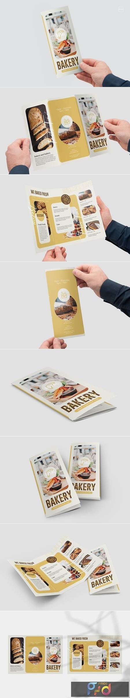 Bakery And Confectionery Food Trifold Brochure B48BEPU 1