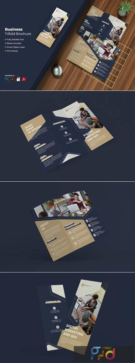 Business Digital Marketing Trifold Brochure 4DWSW7X 1