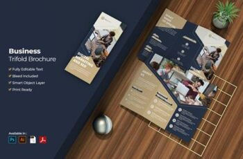 Business Digital Marketing Trifold Brochure 4DWSW7X 7