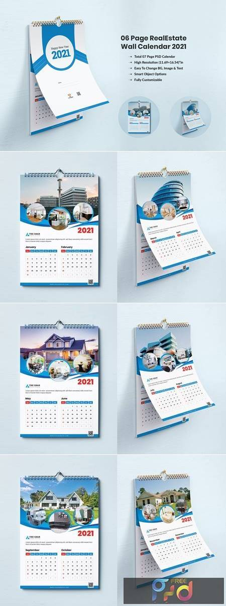 Calendar 2021 - For Real Estate Company P8RNKCY 1