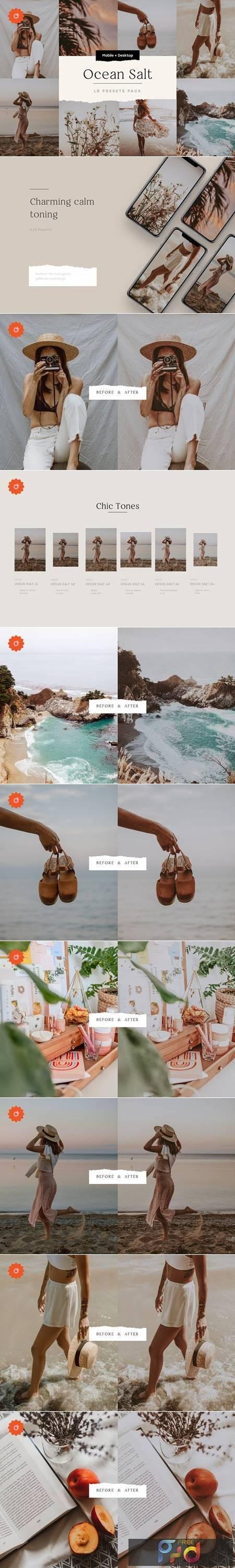 Ocean Salt – 6 Lightroom Preset Pack 5212710 1