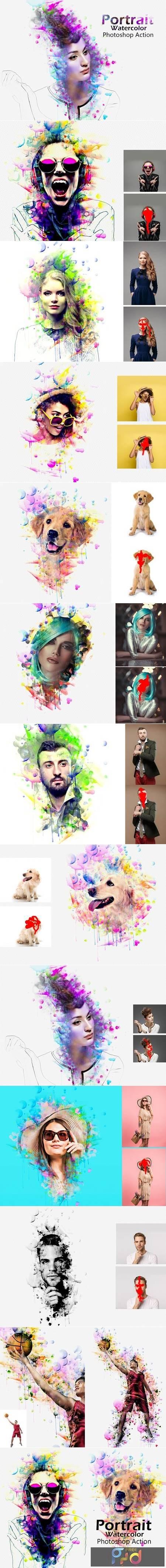 Portrait Watercolor Photoshop Action 5204400 1