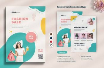 Fashion Sale Promotion Flyer XEM4MUC 2