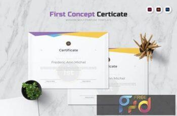 First Concept Certificate 4A7TBDQ 5
