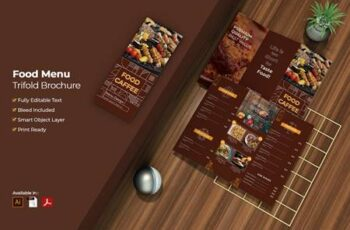 Food Menu Trifold Brochure FQTD2VA 5
