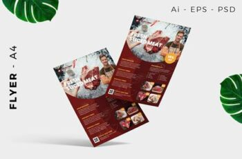 Fresh Meat Butcher Flyer Design A5HMMHQ 5