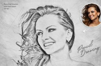 Pencil Drawing Photoshop Template 28663627 4