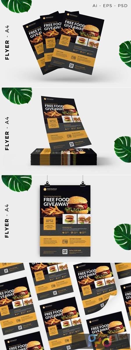 Restaurant Free Giveaway Promotion Flyer Design 5QA8VAL 1
