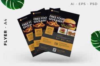 Restaurant Free Giveaway Promotion Flyer Design 5QA8VAL 7