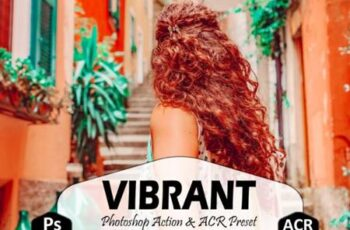 10 Vibrant Photoshop Actions, ACR Preset 5917016 4
