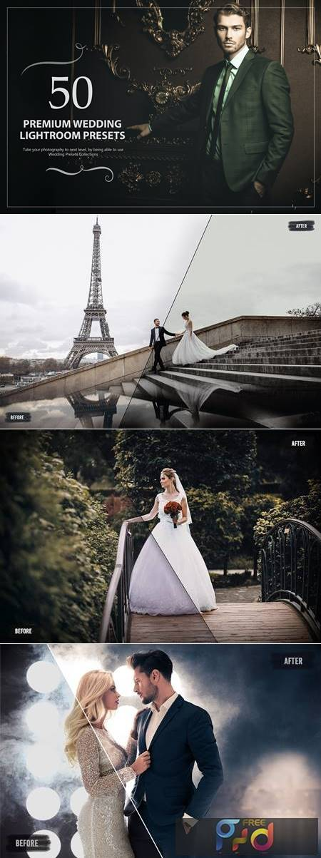 50 Premium Wedding Lightroom Presets SXVD9LR 1