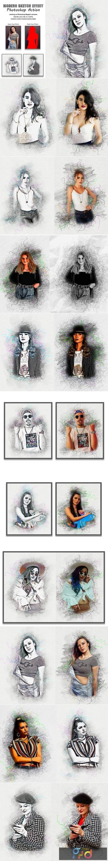 Modern Sketch Effect PS Action 5404495 1