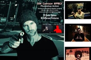 GTA Cartoon Effect Photoshop Action 5485273 5