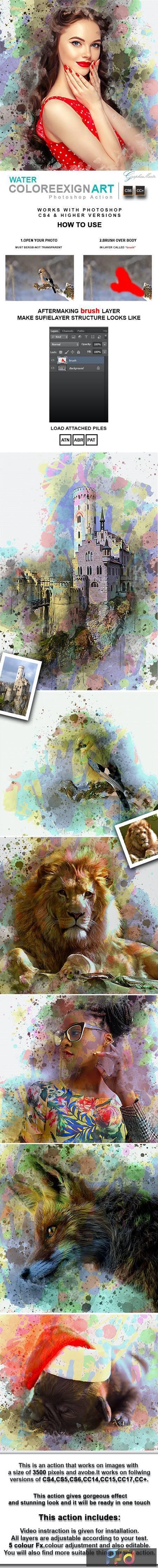 Water ColoreeXign Art Photoshop Action 28337654 1