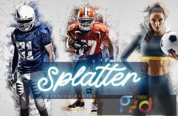 Art Splatter Photoshop Action QP5S3C8 2