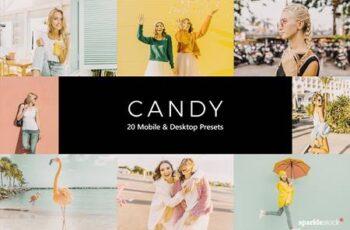 20 Candy Lightroom Presets & LUTs 5442976 2
