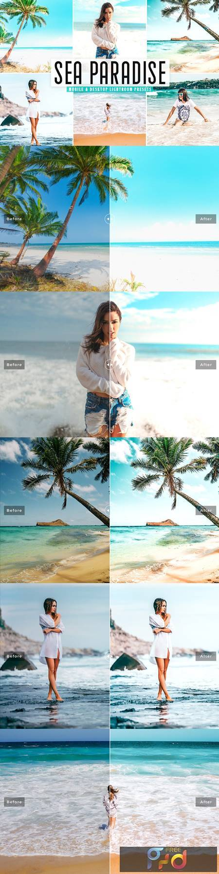 Sea Paradise Mobile & Desktop Lightroom Presets 5437511 1