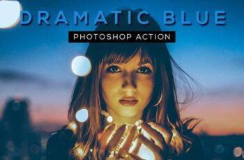 Dramatic Blue Photoshop Action 28328629 3