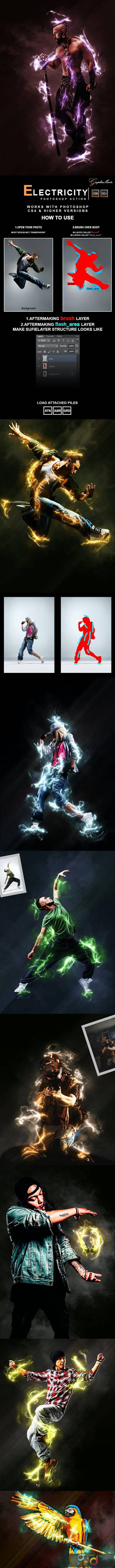 Electricity Photoshop Action 28441466 1