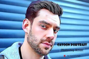 Cartoon Portrait Photoshop Action 5099109 3