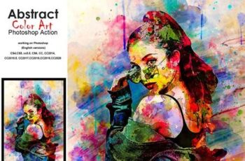 Abstract Colorful Art PS Action 5188807 1