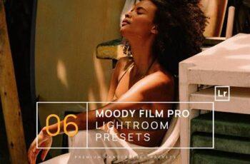 6 Moody Film Pro Lightroom Presets + Mobile Q7V7K3Z 7