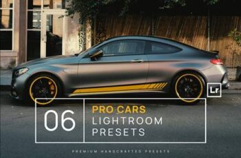 6 Pro Cars Lightroom Presets + Mobile USW7P5S 2