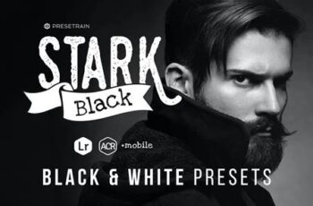 Stark Black - Dramatic Black & White Presets 5LAEFMU 5