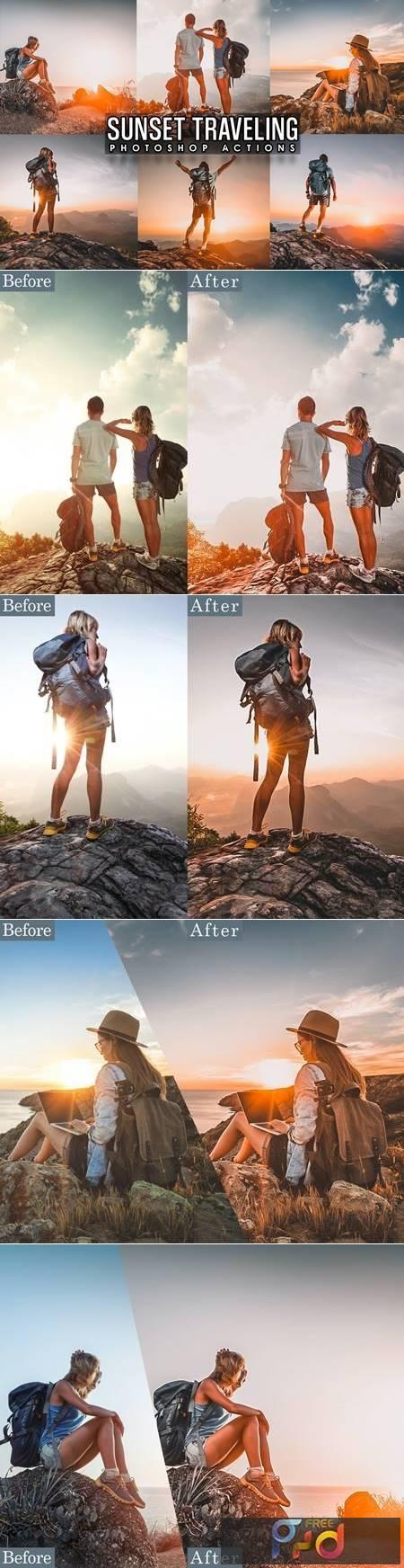 Sunset Traveling Photoshop Actions MXEHQZ6 1