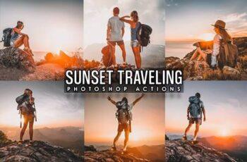 Sunset Traveling Photoshop Actions MXEHQZ6 2