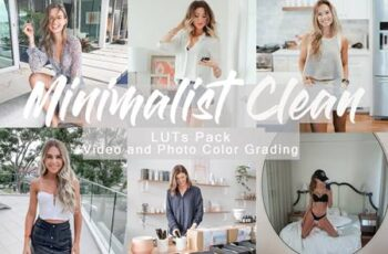 MINIMALIST CLEAN - LUTs Pack for Video and Photo 3GRQJ6D 5