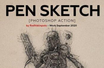 Pen Sketch Photoshop Action 28438249 7