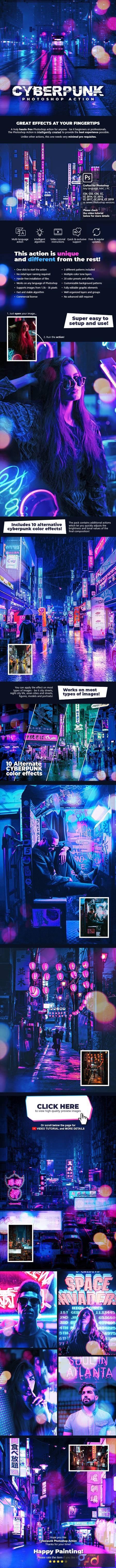 Cyberpunk Photoshop Action 28480390 1