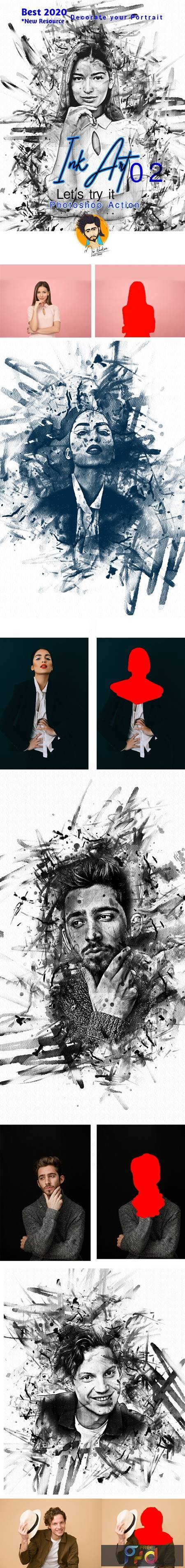 Ink Art Photoshop Action 28928160 1