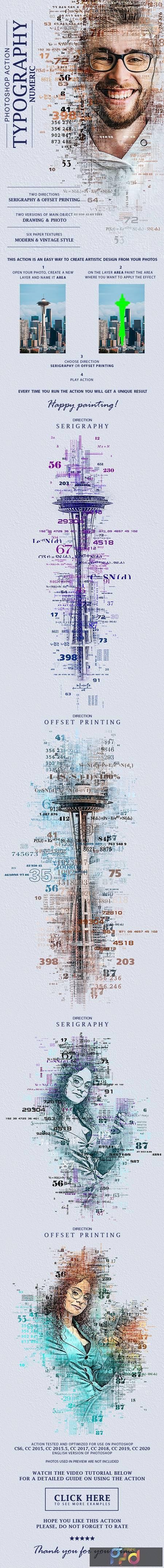 Typography (Numeric) Photoshop Action 28477619 1