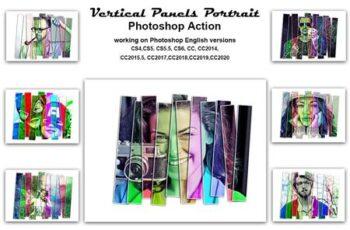 Vertical Panels Portrait PS Action 5431017 3