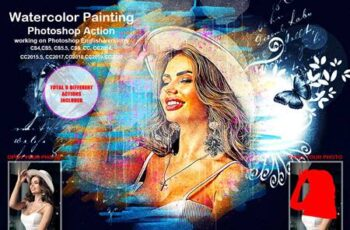 Watercolor Painting Photoshop Action 5458160 8