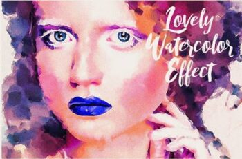 Lovely Watercolor Painting Effect Actions 790226 1