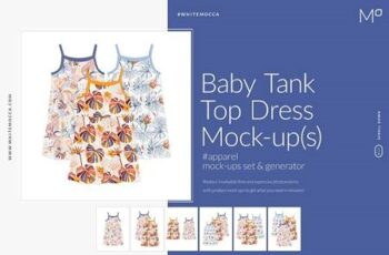 Baby Tank Top Mock-ups Set 4548252 7