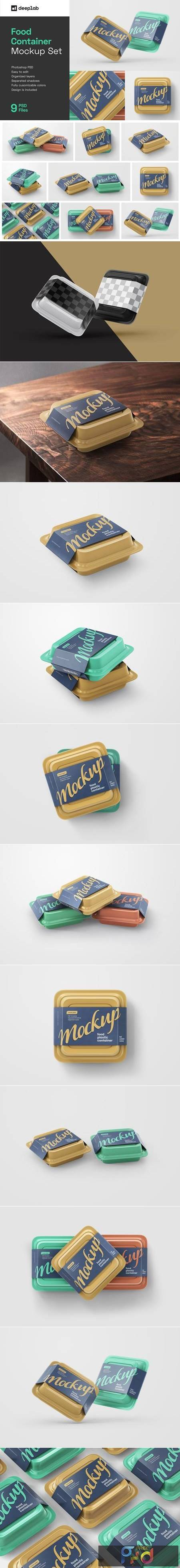 Plastic Food Container Mockup Set 5548996 1