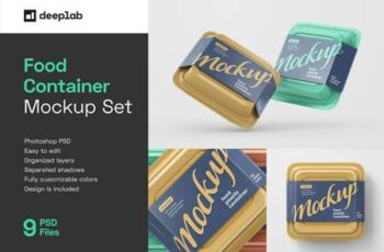 Plastic Food Container Mockup Set 5548996 7