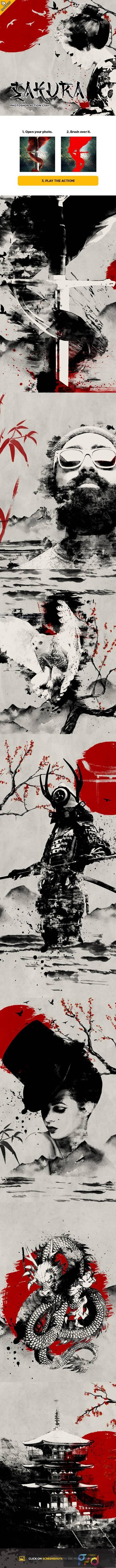 Sakura CS4+ Photoshop Action 28714090 1