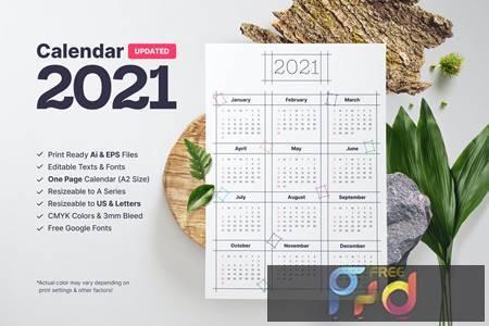 Calendar 2021 TTULNTQ 1