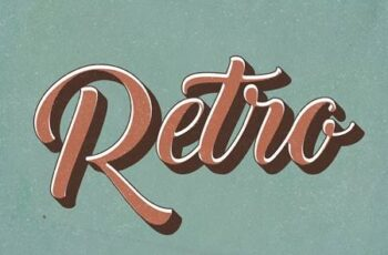 Retro Text Effect - 10 Photoshop Different Styles 29215768 6