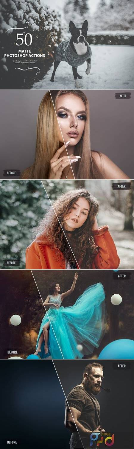 50 Matte Photoshop Actions JLXCRCR 1