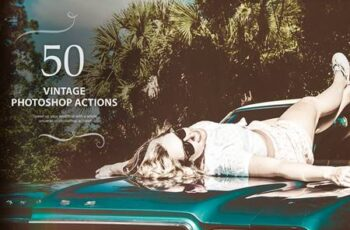 50 Vintage Photoshop Actions PYJLSCS 3