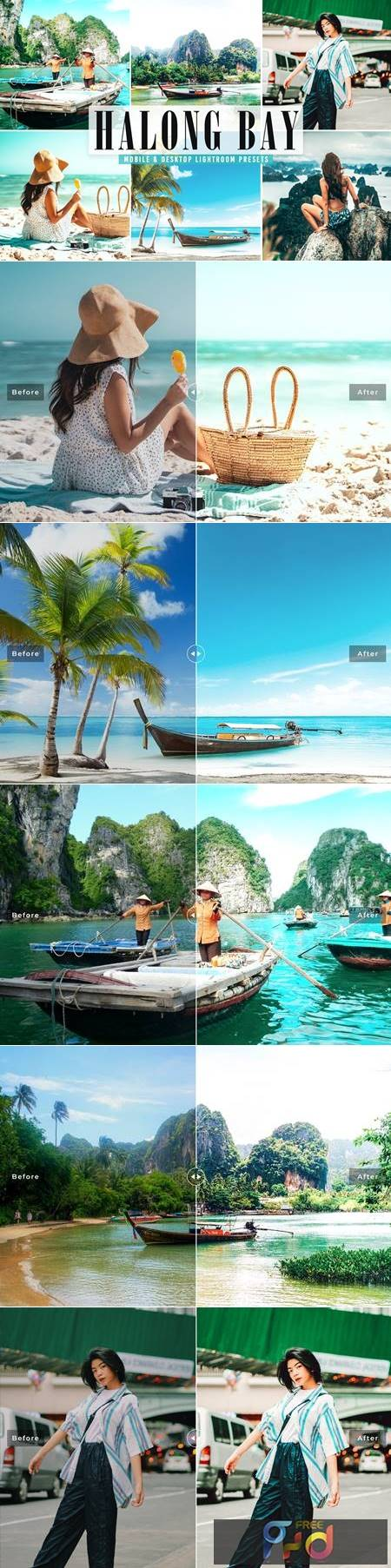 Halong Bay Mobile & Desktop Lightroom Presets Z967HJ9 1