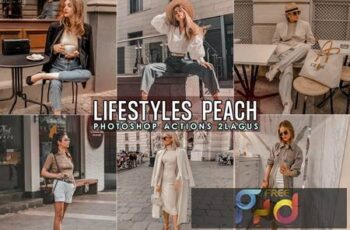 Lifestyles Peach Photoshop Actions M8MFK47 3